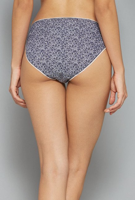 Wunderlove Navy, Grey Printed Panties (Pack Of 4)