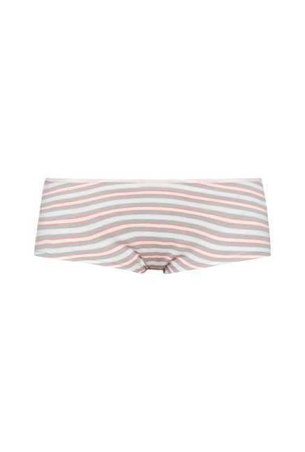 Wunderlove Grey, Pink Striped Panties (Pack Of 3)