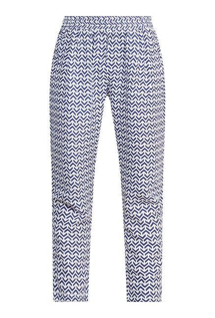 Zudio White Printed Pant