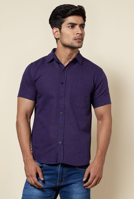 Zudio Navy Solid Shirt