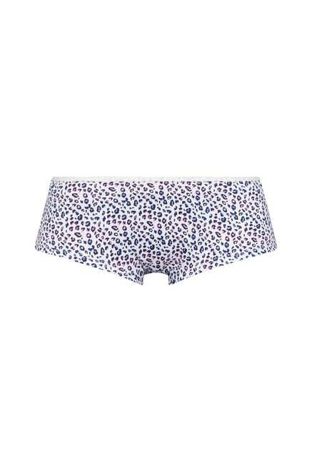 Wunderlove Grey, Blue Animal Printed Panties (Pack Of 3)