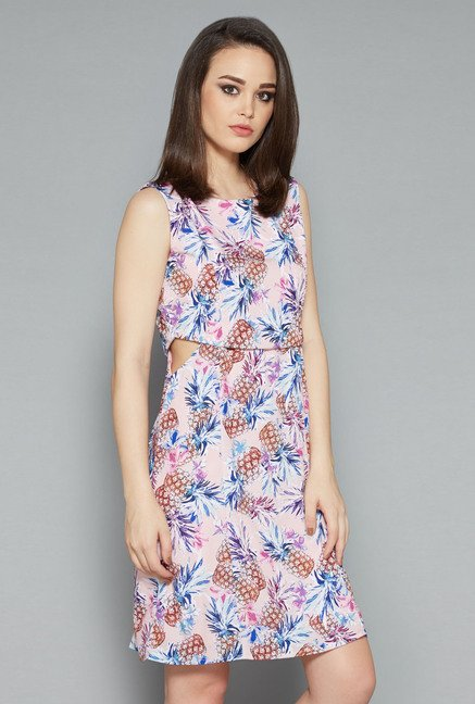 Nuon Pink Printed Dress