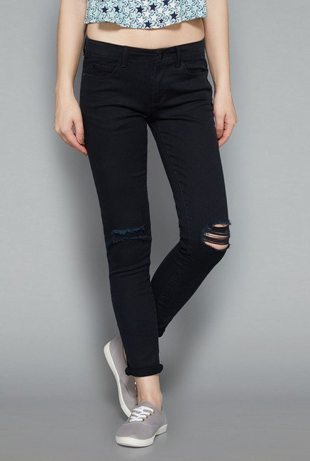 Nuon Black Skinny Fit Jeans