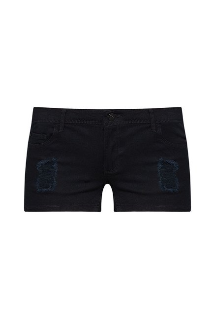 Nuon Black Distressed Shorts