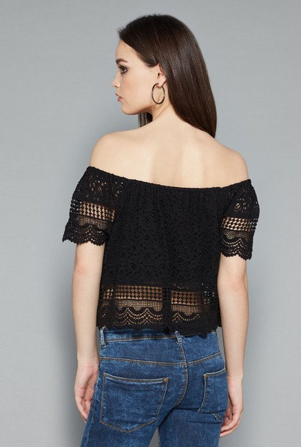 Nuon Black Betty Crop Top
