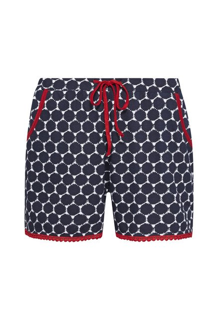 Intima Navy Geometric Printed Shorts