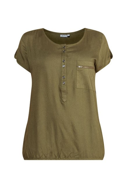 Zudio Olive Solid Lotto Blouse