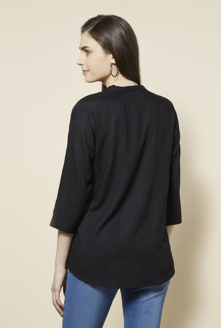 Zudio Black Solid Andy Blouse