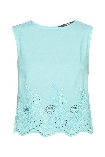 Nuon Turquoise Spencer Crop Top