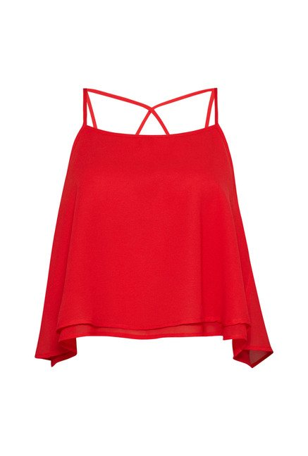 Nuon Red Tiffany Blouse