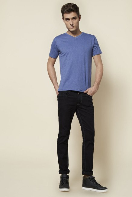 Zudio Blue Solid T Shirt