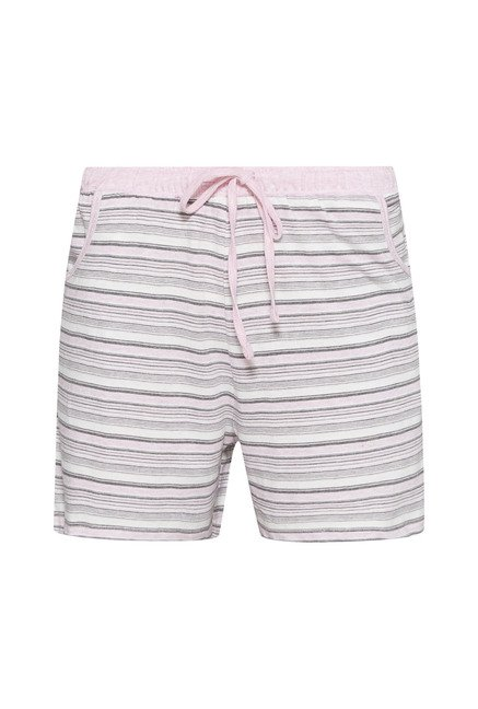 Intima Light Pink Striped Shorts