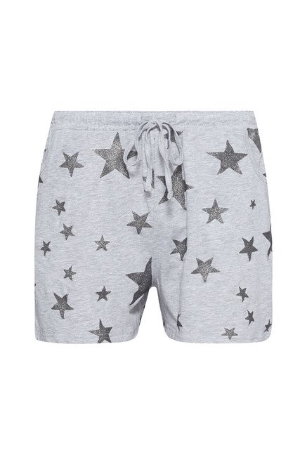 Intima Grey Printed Shorts