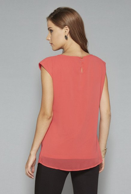 Wardrobe Coral Cranberry Blouse