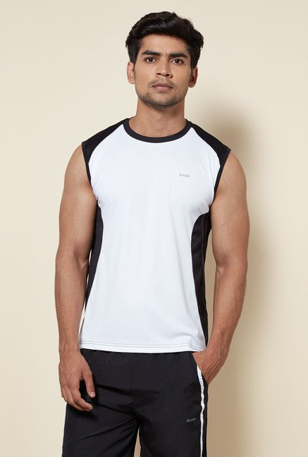 Zudio White Solid T Shirt