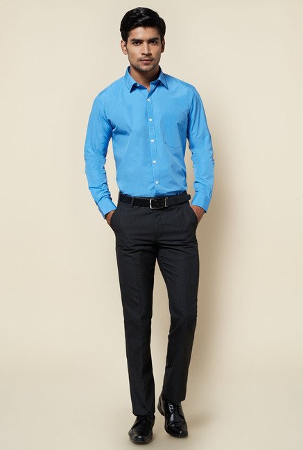 Zudio Blue Solid Shirt