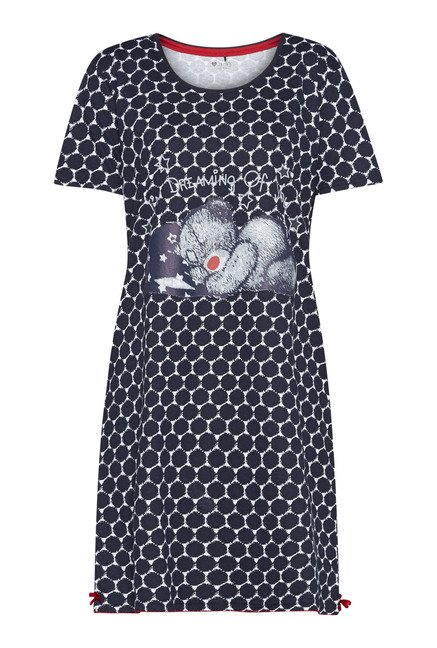 Intima Navy Printed Nightdress