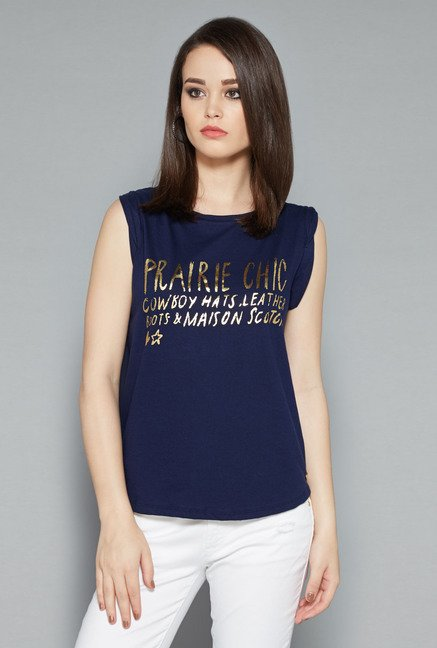 Nuon Navy Printed Top