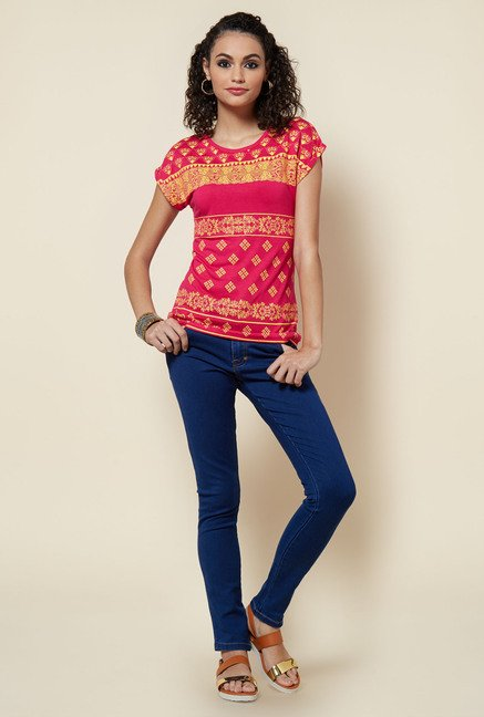 Zudio Pink Printed Top
