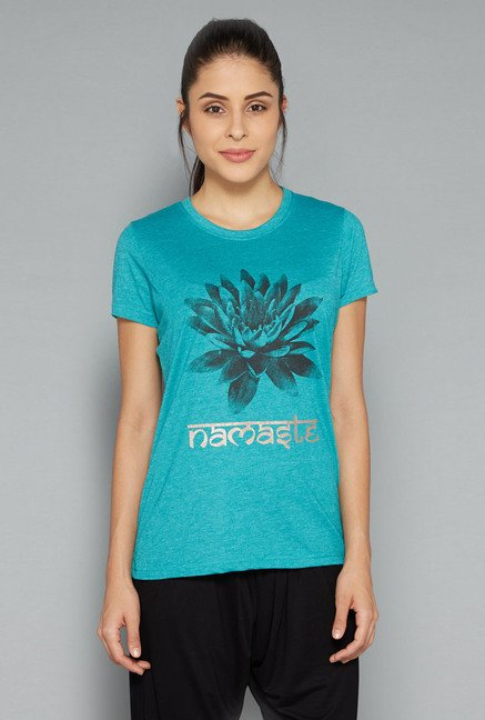 Westsport Womens Teal Printed T Shirt