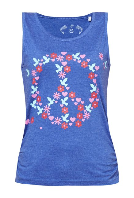 Zudio Indigo Printed Peace Top