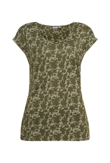 Zudio Olive Printed Cecil Top