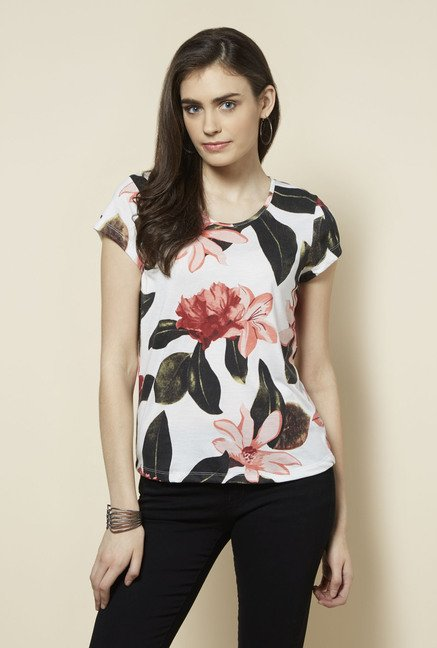 Zudio White Gia Round Neck Top