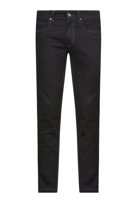 Zudio Black Solid Jeans