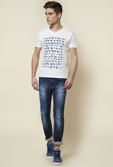 Zudio Indigo Solid Slim Fit Jeans