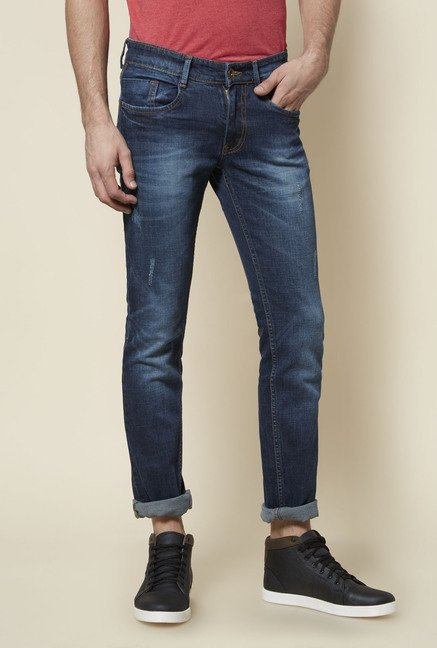 Zudio Navy Slim Fit Jeans