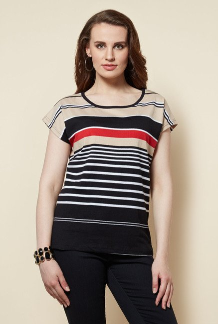 Zudio Black Striped Bobby Top