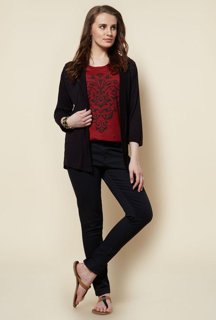 Zudio Black Lace Shrug