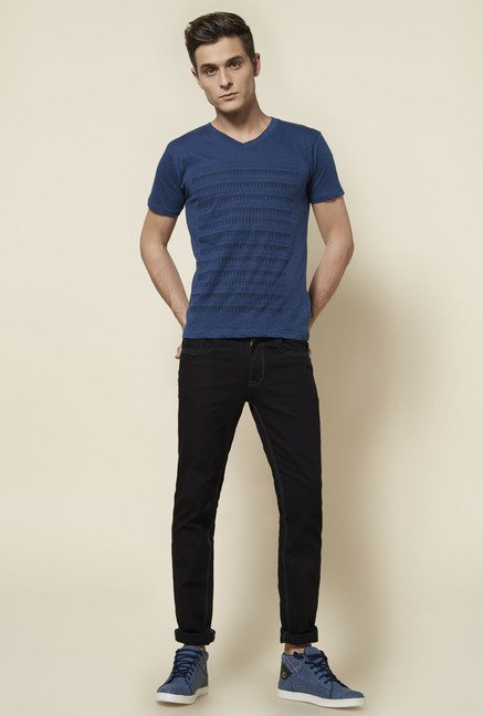 Zudio Indigo Slim Fit T Shirt