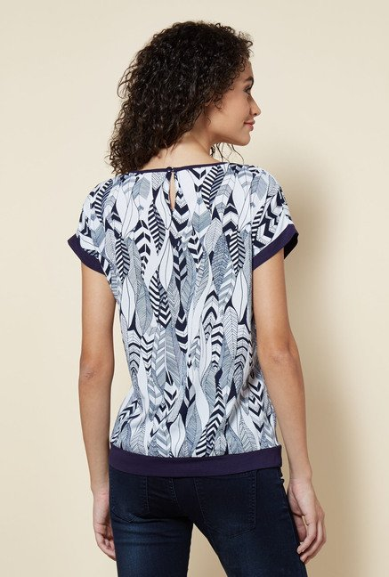 Zudio Navy Printed Katie Blouse