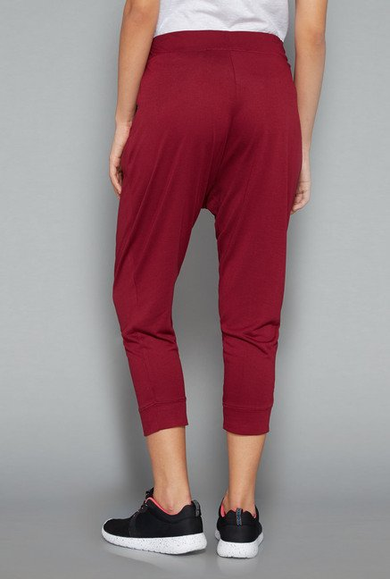 Westsport Womens Maroon Solid Joggers