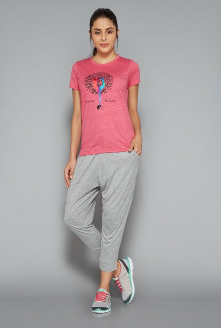 Westsport Womens Grey Solid Joggers