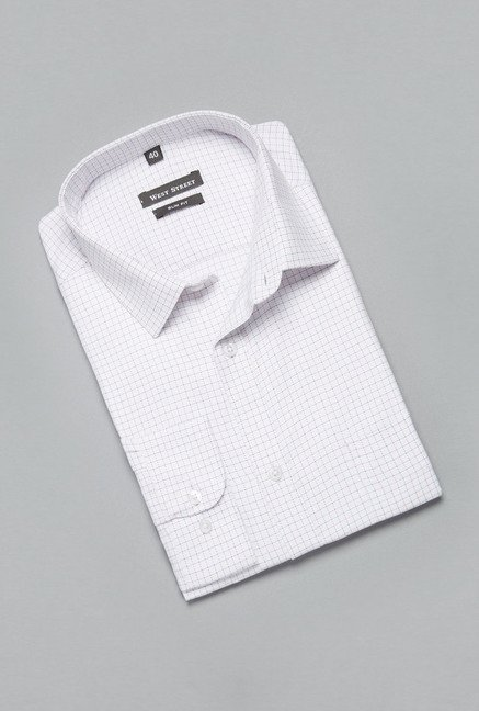 Weststreet White Checks Shirt