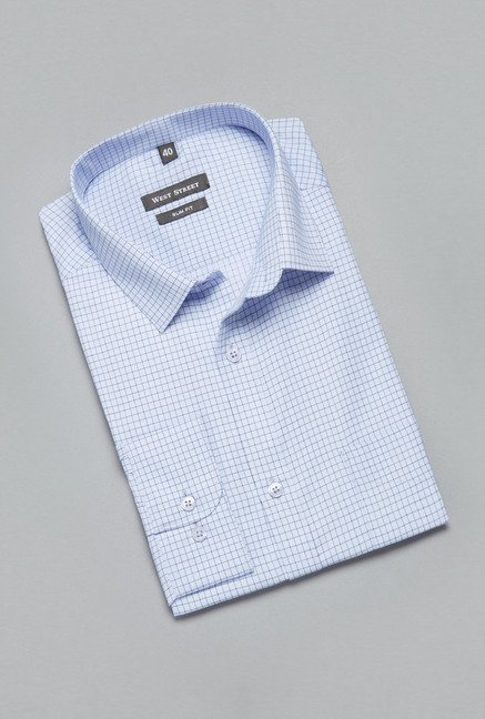 Weststreet Blue Checks Shirt