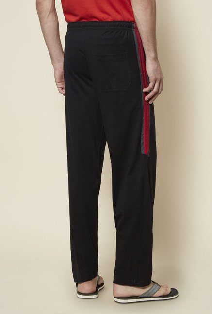 Zudio Black Solid Track Pant