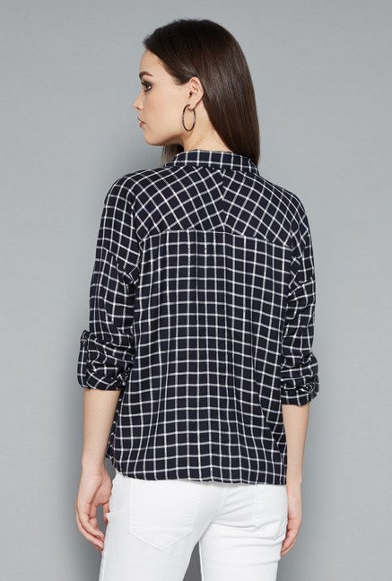 Nuon Navy Bethney Blouse