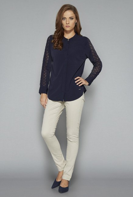 Wardrobe Navy Jossey Blouse