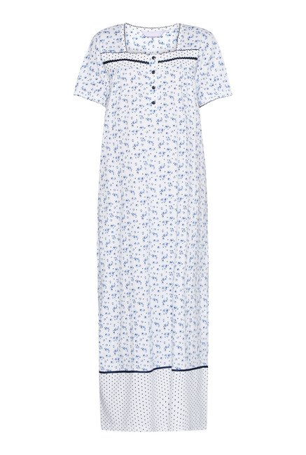 Intima White Printed Nightdress