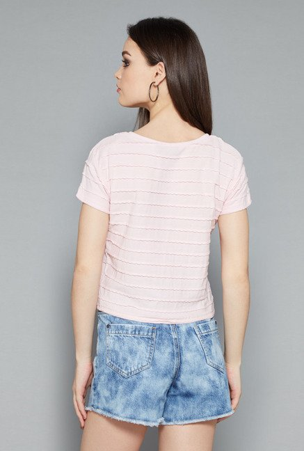 Nuon Light Pink Solid Top
