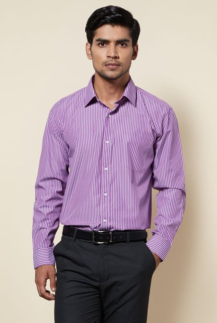 Zudio Purple Striped Shirt