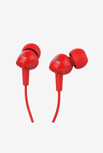 JBL C100SI In Ear Headphone (Red)