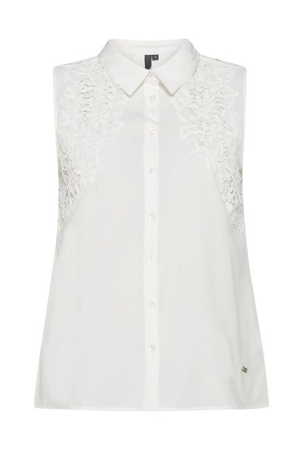 LOV White Embroidered Blouse