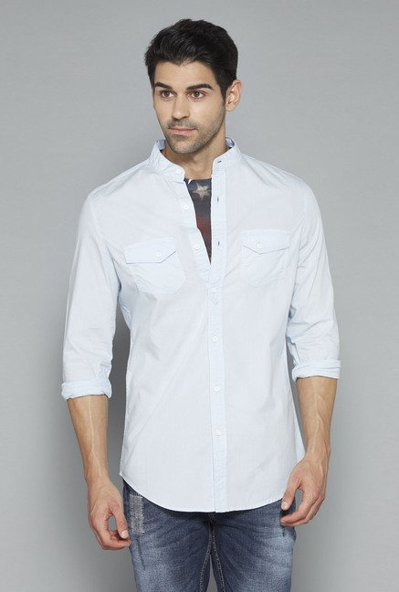 Nuon Light Blue Checks Shirt