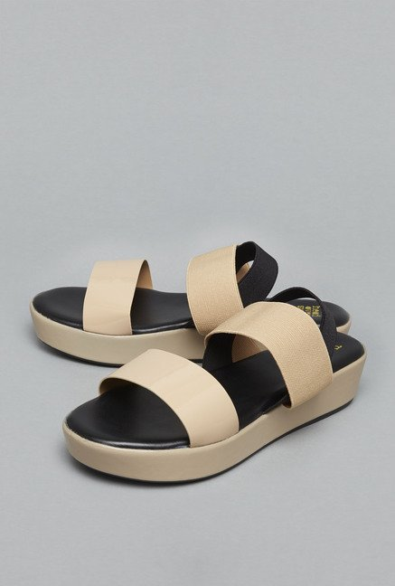 Head Over Heels Beige Sling Back Sandals