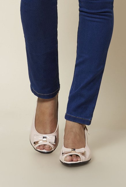 Zudio Pink Peep Toe Sandals