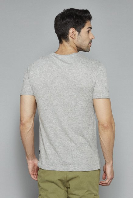 Nuon Grey Printed T Shirt
